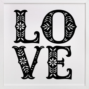 Papercut Love Art Print