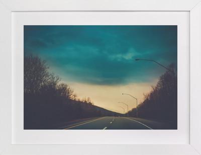 Stormy Drive Art Print