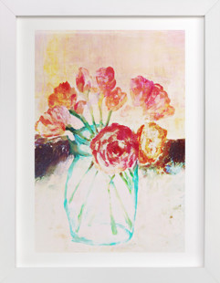 Flowers in a Mason Jar Art Print