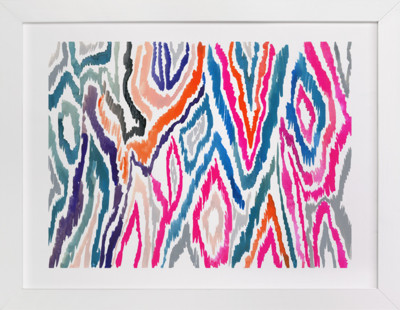 Bright Ikat Art Print
