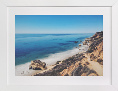 California Coastline Art Print