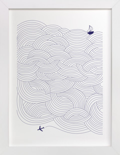 Field of Waves Art Print
