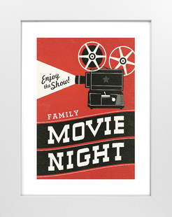 Family Movie Night Art Print