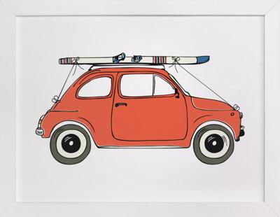 To the Ski Slopes Art Print