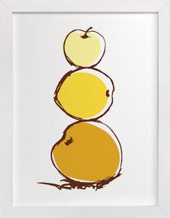 Stack of Apples Art Print