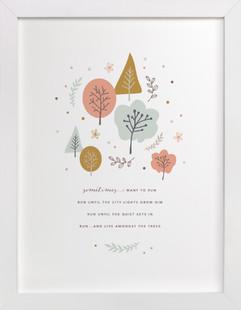 Live Amongst The Trees Art Print