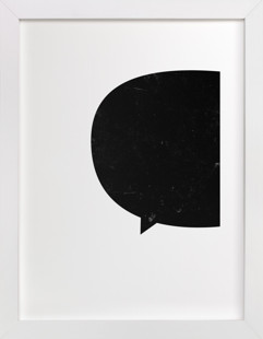 something to say Art Print