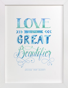 Love Beautifying in Watercolor Art Print