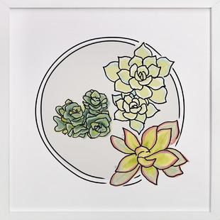 Succulent Love Series Art Print