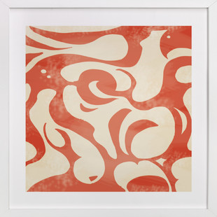 Orange Vintage Pattern  Art Print