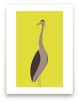 The Elegant Heron by Mayel