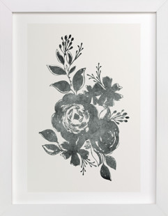 Dark Florals no. 1 Art Print
