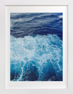 Wavy Blue Art Print