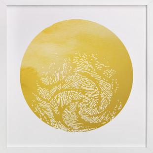 Gold Moon Rising Art Print