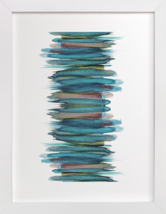 Abstract Brushstrokes Art Print