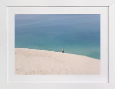 Lone Sunbather on Dunes Art Print