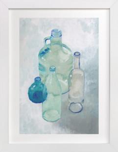 Glass Bottles Art Print