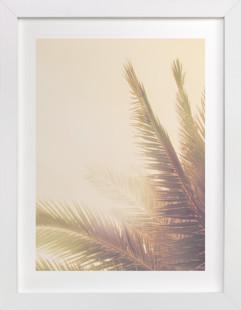 Golden Palm Tree Art Print