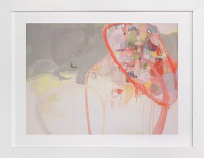 Red Loops Art Print