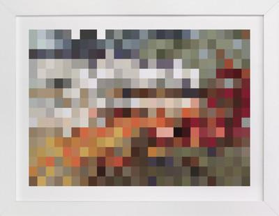 Mosaic Pixel Art Print