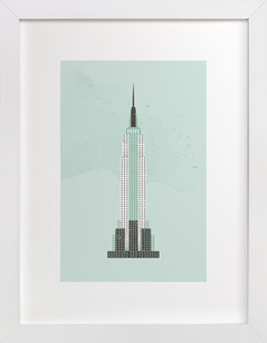 Empire State Building Flare Art Print