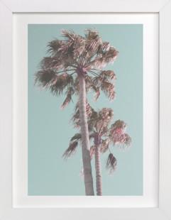 Sun Bleached Palm Trees Art Print