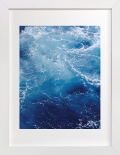 Waving Blue Art Print