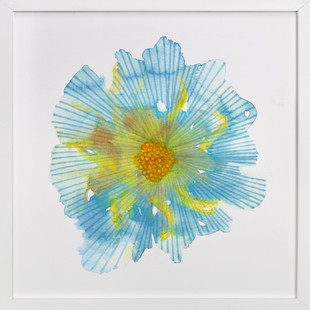 Bloom in Blue Art Print