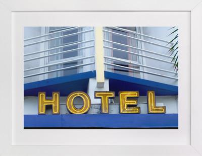 Blue Hotel Art Print