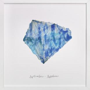 September - Sapphire Art Print