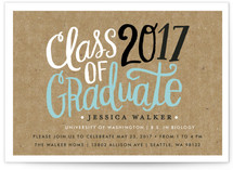 Handscript Party Graduation Announcement Postcards