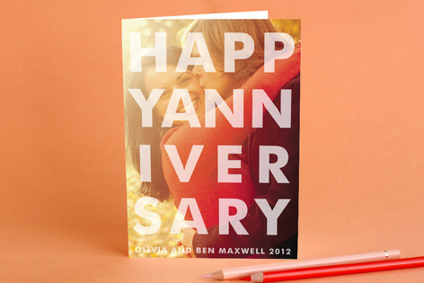 Etched Anniversary Greeting Cards