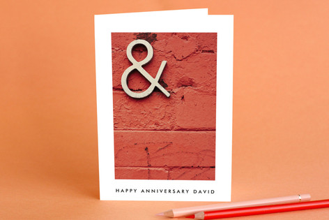 Bricks Anniversary Greeting Cards