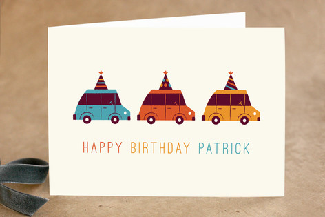 Birthday Cruising Kid's Birthday Greeting Cards