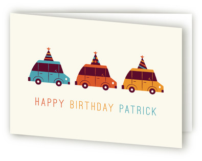 Birthday Cruising Kids Birthday Greeting Cards