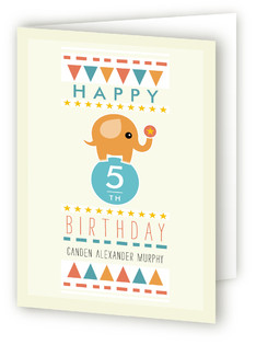 Amazing Elephant Kids Birthday Greeting Cards