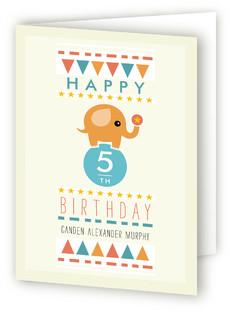 Amazing Elephant Kids Birthday Greeting Cards
