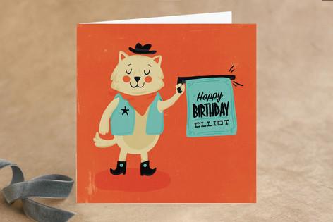 Bang Bang Meow Kid's Birthday Greeting Cards