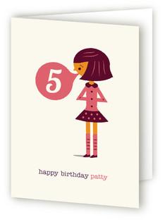 Bubblegum Kids Birthday Greeting Cards