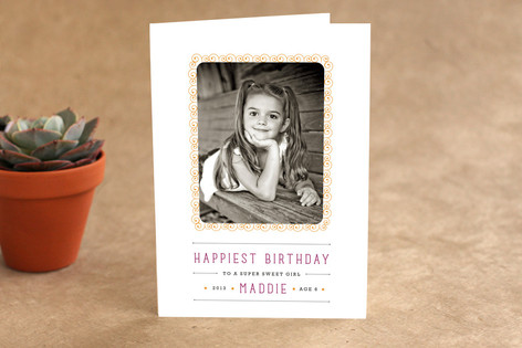 Doodle Frame Kid's Birthday Greeting Cards