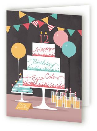 Party Cake Kids Birthday Greeting Cards