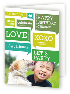 Chatter Boy Kids Birthday Greeting Cards