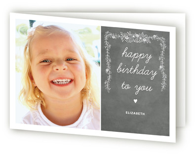 Chalkboard Kids Birthday Greeting Cards