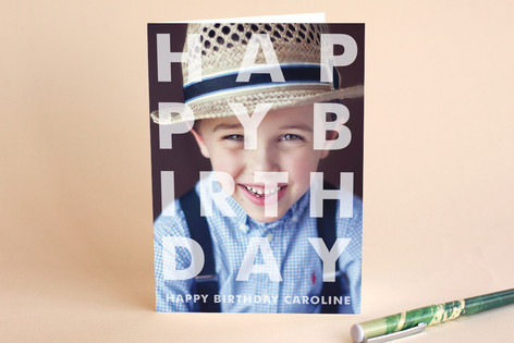 Etched Birthday Greeting Cards