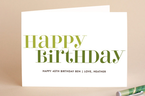 Love Lettered Birthday Greeting Cards