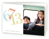 Numbers w/ Photo Greeting Cards