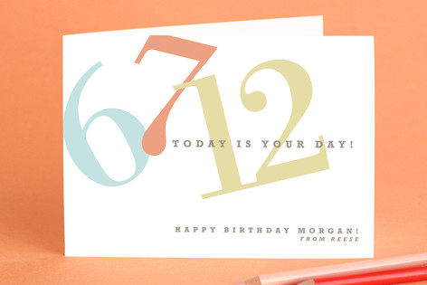 Numbers Birthday Greeting Cards