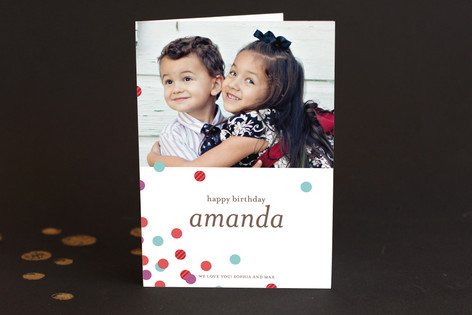 Confetti Scatter Birthday Greeting Cards