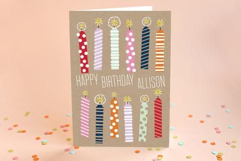 Kraft Candles Birthday Greeting Cards