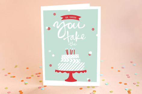 Washi Tape Birthday Cake Birthday Greeting Cards